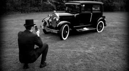 Zwarte Ford Model A (°1929)